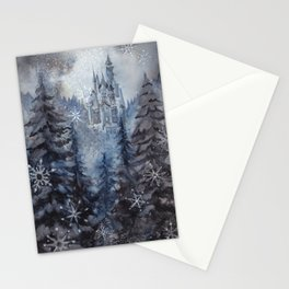 Snow Starlight Stationery Cards