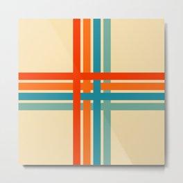 Retro Cross Stripes 02 Metal Print