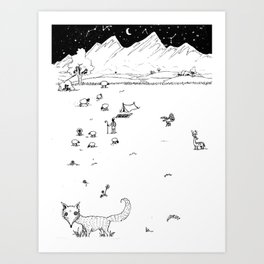 SilverFox Art Print