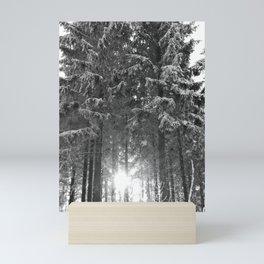 Snow and Sunrise Sunset Mini Art Print