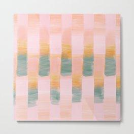 Sunrise Stripes Digital Watercolor Metal Print