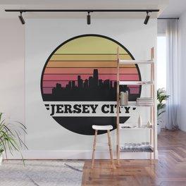 Jersey City Skyline Wall Mural