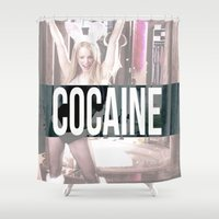 cocaine Shower Curtains featuring Cocaine by Randall Hansen