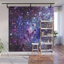 purple blue Eagle Nebula Wall Mural