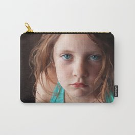 Portrait - the day she was sick and didn't want to smile Carry-All Pouch