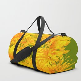 ABSTRACTED MOSS GREEN  FIRST SPRING YELLOW DANDELIONS Duffle Bag