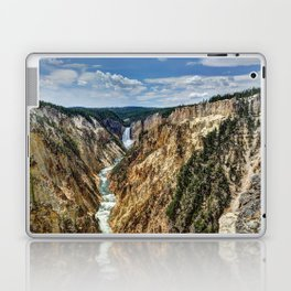 Grand Canyon of Yellowstone River and Lower Falls from Artist Point Laptop & iPad Skin