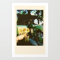 motorcycle Art Prints featuring Motorcycle by Mauricio De Fex