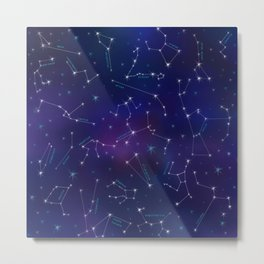 Constellation Intrigue Metal Print
