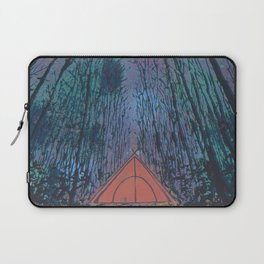 Camp Vibes Screenprint of Tent Under the Stars Laptop Sleeve