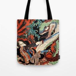 Ukiyo-e, Dragon Tote Bag