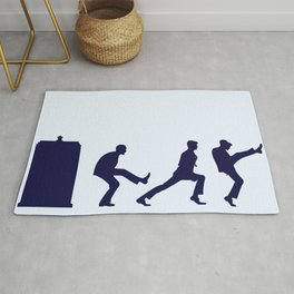 The Tardis of Silly Walks Rug