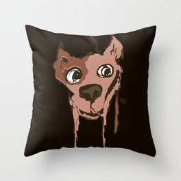 Anton - brown and soft pink Throw Pillow