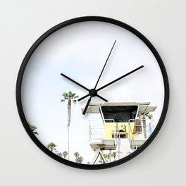 San Diego Beach Lifeguard Hut Wall Clock