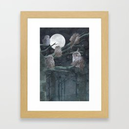 Owles (Detail of Girl with the owles) Framed Art Print