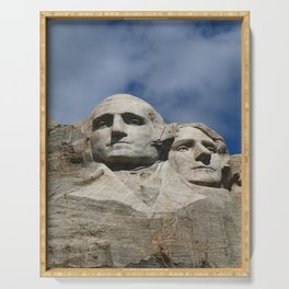 George Washington And Thomas Jefferson  - Mount Rushmore Serving Tray