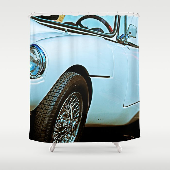 Vintage Sports Car Shower Curtain