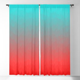 Cyan to red ombre flames Miami Sunset Blackout Curtain