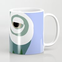 parrot Mugs featuring Parrot  by Jessica Slater Design & Illustration