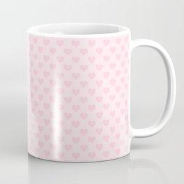 Large Light Soft Pastel Pink Love Hearts Coffee Mug