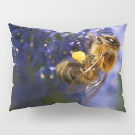 Honeybee on the California Lilac Pillow Sham