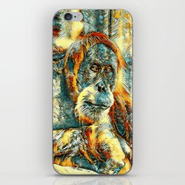 AnimalArt_OrangUtan_20180203_by_JAMColorsSpecial iPhone Skin