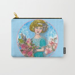Flora - Vintage Flower Girl Carry-All Pouch