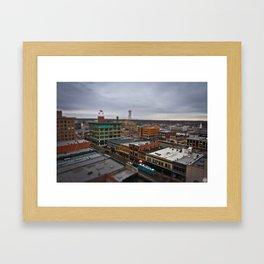 Tilt/Shift of Downtown Joplin, MO Framed Art Print