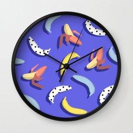 Abstract banana pattern. Wall Clock