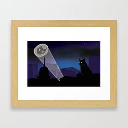 BatCat Framed Art Print