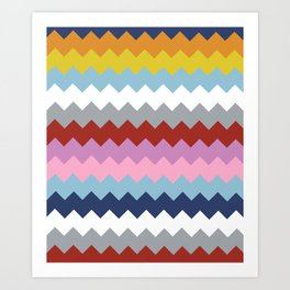 Map Quilt Art Print