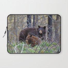 Sow & cub in Jasper National Park   Canada Laptop Sleeve