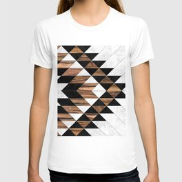 Urban Tribal Pattern No.9 - Aztec - Concrete and Wood T-shirt