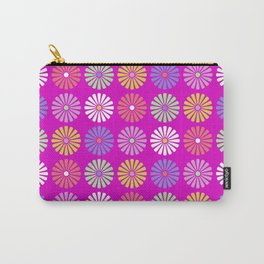 Pastel Flowers Pattern (On Purple/Pink) Carry-All Pouch