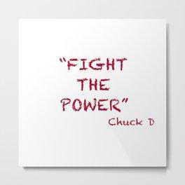Fight the Power #WordArt #hiphop Metal Print
