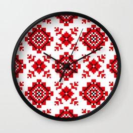 Slavonic national ornament Wall Clock