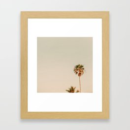 Minimal Palms Framed Art Print