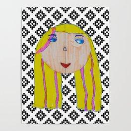 Blonde Girl Poster