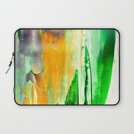Green abstract nature vibes Laptop Sleeve