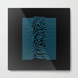 Joy Division - Unknown Pleasures [Blue Lines] Metal Print