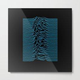 Unknown Pleasures [Blue Lines] Metal Print