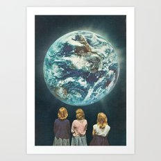 Full Earth () Art Print