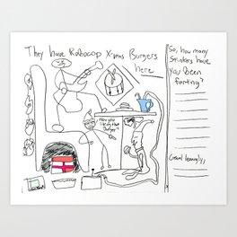 0031 Robocoppin Art Print