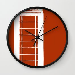 Red telephone box kiosk - england Wall Clock