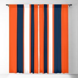 Denver Football Orange Blackout Curtain