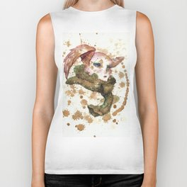 Winged Woman in Tea Biker Tank