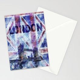 London Tower Bridge Mixed Media Art Stationery Cards