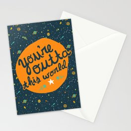 Outta this World Space Adventure Stationery Cards