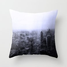 London Old vs New Throw Pillow