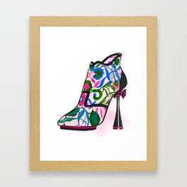 Colourful Bootie Framed Art Print